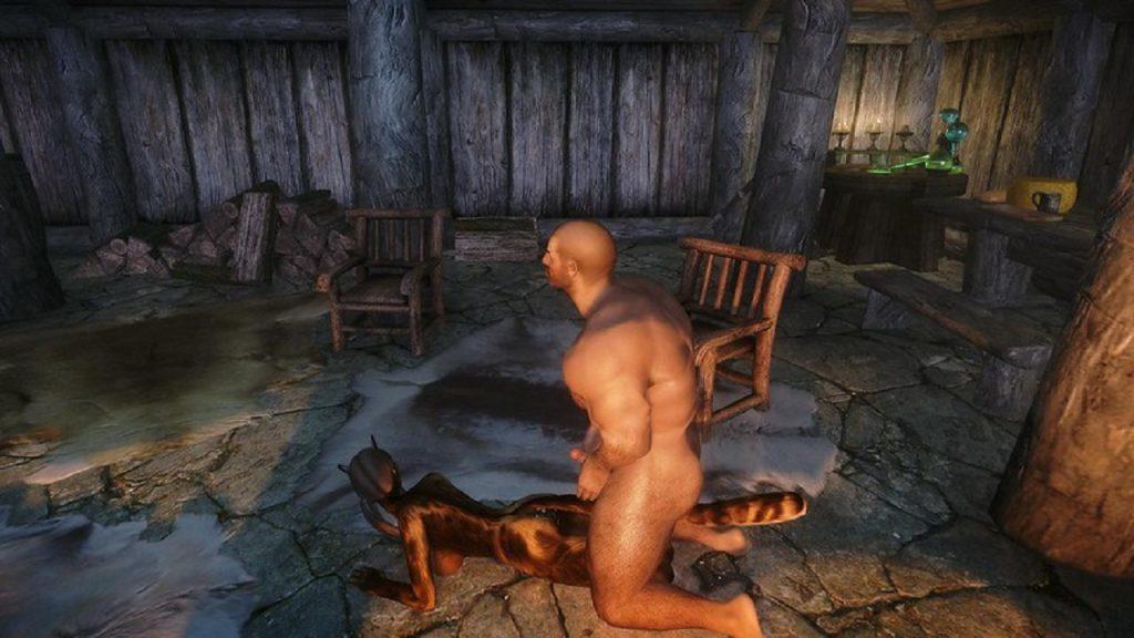 Skyrim Khajiit anal sex